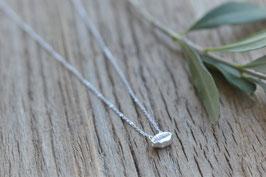 Halskette silber mit liegender Kauri fein HA 531