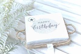 Servietten weiss Happy Birthday Art. Nr. ACC. 36
