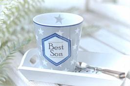 """Krasilnikoff Tasse mug """"best son"""" art nr. K 53"""