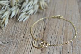 Gold Armkette fein doppel Kreis art nr. Ga 31