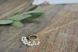 Gold Halskette Perl Pink Sand Art Nr. GH111