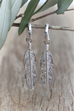 Silber Ohrencreolen Feather art nr. OS 245