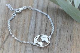 Armkette Silber mit Weltkugel art nr. A 395