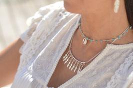 Halskette silber Boho Federn Art. Nr. HA 535