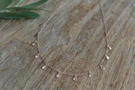 Rosegold Halskette mit mini Plaquetten POLLY art nr Ro 24