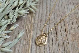 gold Halskette geschwärzt UNE LIGNE art nr.GH 12