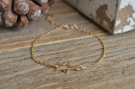 Gold Armkette mit Stern art nr. Ga 36