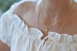Gold Set Halskette kauri muschel 2 Halsketten art nr. Gs 17