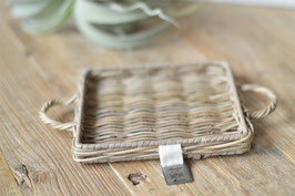 Rustic Rattan Mini Tray Square art. nr. Acc 30