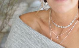 Halskette rondell silber Pink Sand Art. Nr HA501