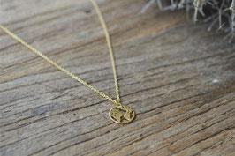 Gold Weltkarte Halskette Art.Nr. GH 9