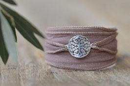 Seidenarmband Amulett klein durchbrochen Art. Nr. A 363