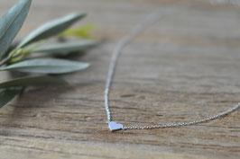 Silber Ankerhalskette kurz  mit kleinem Herzli KS 21
