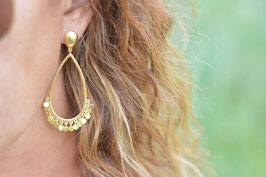 Gold Drops Ohrenstecker hängend gross Pinksand Art. Nr GO . 1