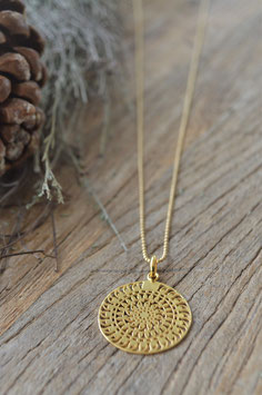 Gold Halskette Kugeli 80 cm Amulett Nicola art nr. GH 113