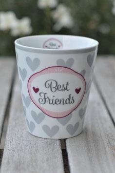Krasilnikoff Tasse  Mug  best Friends herz lila  art nr. K 7