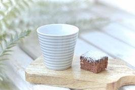 Espresso cup hellgrau dünn gestreift  Krasilnikoff art nr. K 68