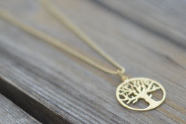 gold Halskette 70 cm Baum des Lebens vergoldet Art. Nr. H/A 121