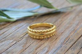 Fingerring gold aussen dots  PINK sand at nr. FR 35
