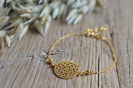 Armkette gold Amulett rund fein art nr. Ga 7