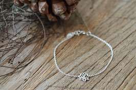 Silberarmkette fein LOtusblüte art nr. A 465