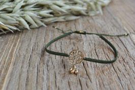 SALE Gold Baumwoll Armkettchen geknüpft mit Amulettli fein art nr. Ga 19