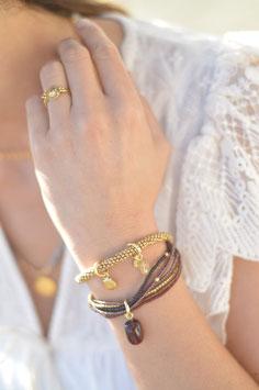 Nirmala Armband gold Garnet  a beuatifulstory art  nr. Ba 58