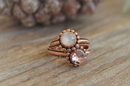 Rosegold Set Fingerring une ligne art nr. Ro 40