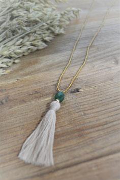 Gold Halskette  happy aventurin grün   art nr. Ba 32