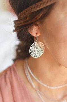 Silber Ohrencreolen fein  Amulett Lany art nr . Os 235