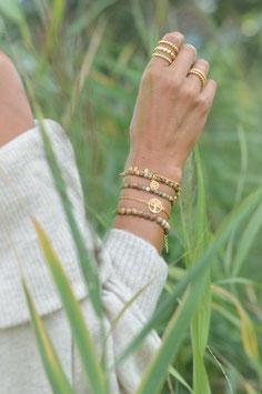 Set Gold aus 5 Armbänder Baum des Lebens Landschaftsjaspis Art. Nr. GS 5