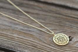 Halskette Amulett vergoldet Kette 90 cm  Art. Nr. H / A 49