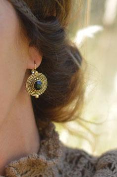 Ohrenhänger gold geschwärzt debby  une ligne art nr. GO 49
