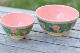 SAle Rice Schüsselchen Grün Blumen rosa art nr ri 35