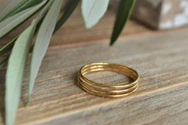 Gold Fingerring 3 Reihig fein art nr. Fr40