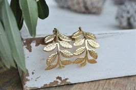 SALE gold Ohrstecker leaves Long PINKSAND art nr. Go 64