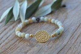 Gold Amulettarmband  Soleil art nr. Ga54