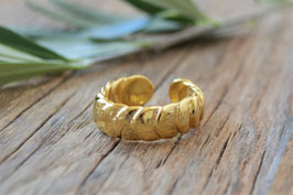 SALE Fingerring gold Rondelle Pink sand art nt. FR 36