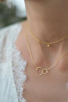 Halskette gold doppelt Kreis fein art nr Gh 17
