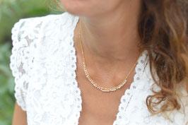 Halskette gold Pinksand mit kleinen feinen Perlen Art Nr. G 1