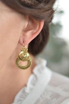gold Ohrenhänger  bohemian geschwärzt UNE LIGNE art nr. Go 16