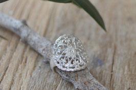 Silber Fingerring Mandala Blumen  offen Art Nr. Fr23