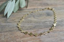 Gold Halskette Rondell Pink Sand HA 107