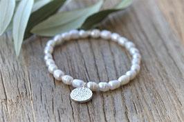 Perlenarmband silber Pinksand Surri art nr.A 472