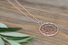 Rosegold Halskette 80 cm mit Amulettanhänger Art. Nr. HA 149
