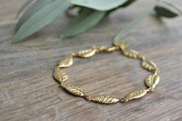 Gold Blattarmkette PINK SAND art nr. GA 40