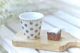 Espresso Cup Gold dots Krasilnikoff  art nr K 62