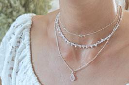 Set 3 Halsketten rosa nude  silber art nr. SK 155