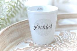 Krasilnikoff Tasse mug GLüCKLICH art nr. K 37