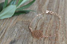 Rosegold Armkette Amulett rund fein art nr. Ro 29